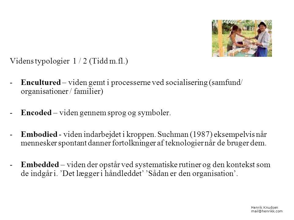 Videns typologier 1 / 2 (Tidd m.fl.)