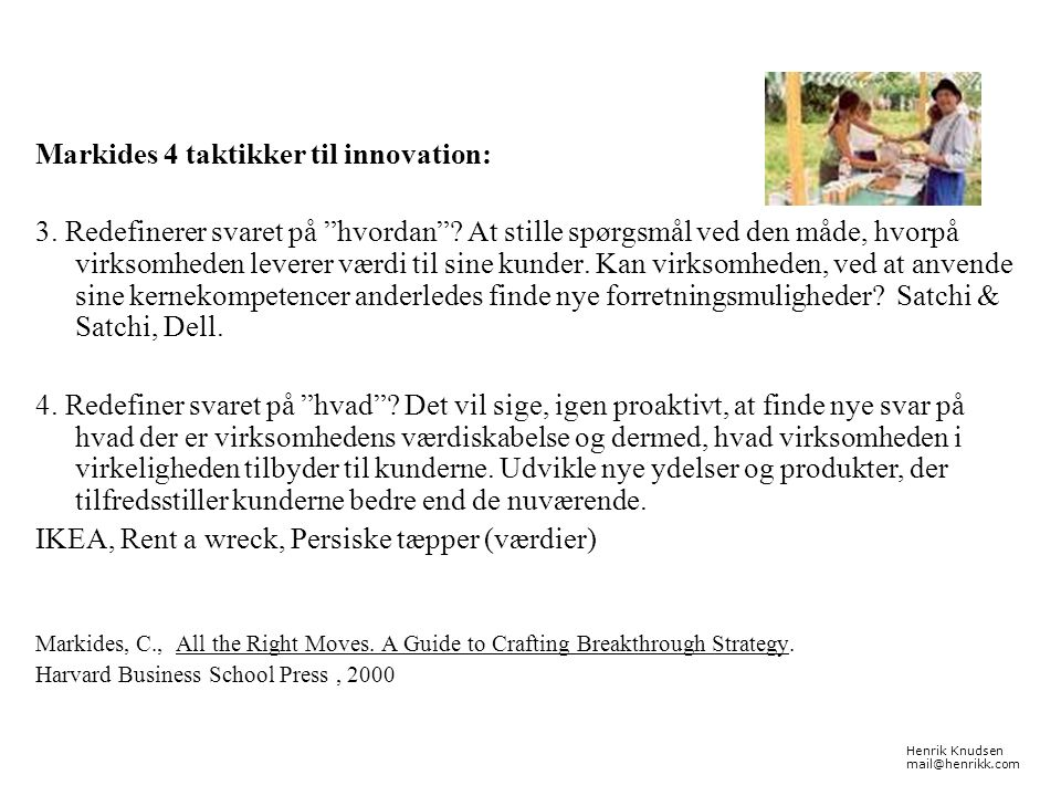 Markides 4 taktikker til innovation: