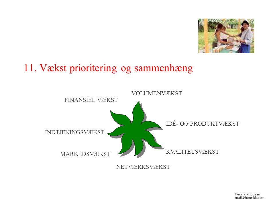 11. Vækst prioritering og sammenhæng