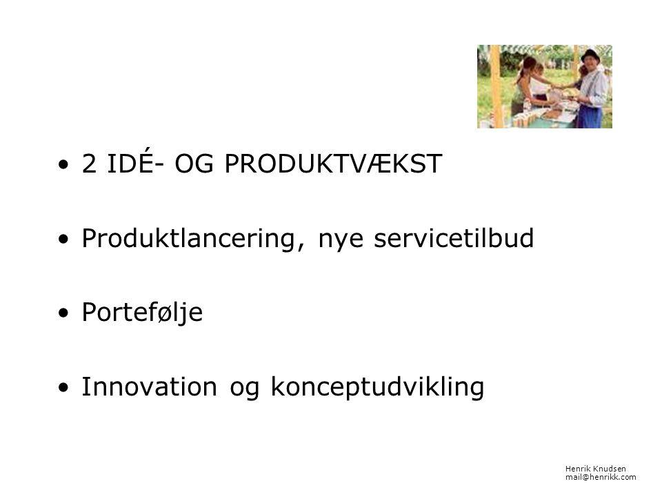 Produktlancering, nye servicetilbud Portefølje