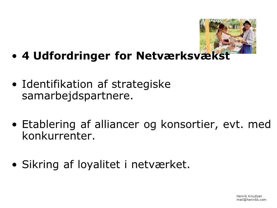 4 Udfordringer for Netværksvækst