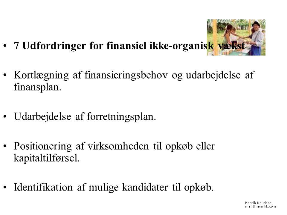 7 Udfordringer for finansiel ikke-organisk vækst