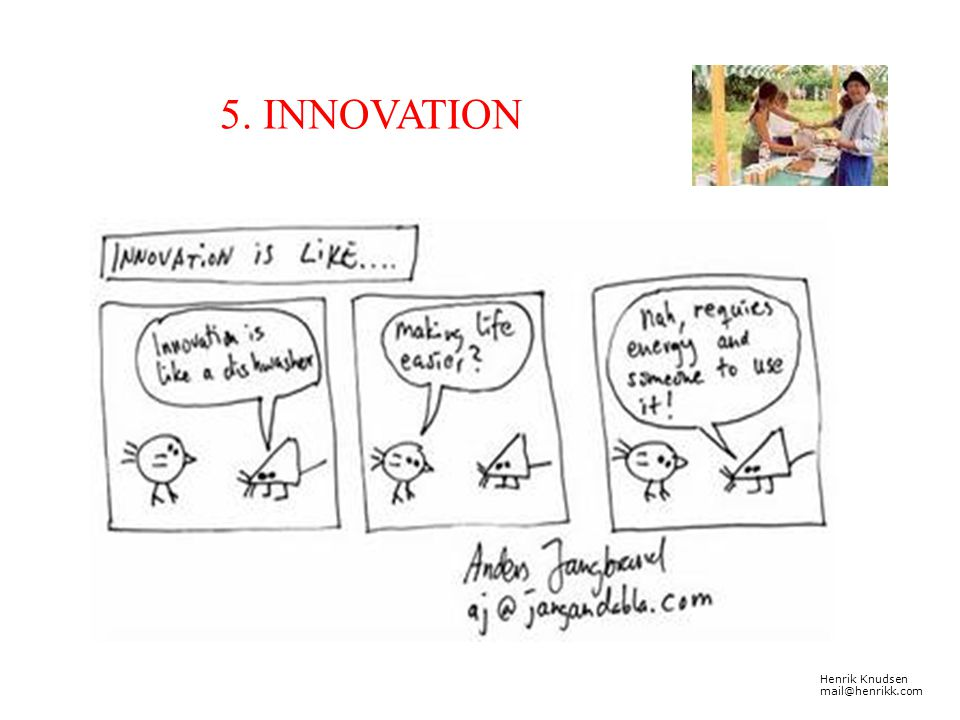 5. INNOVATION Henrik Knudsen mail@henrikk.com