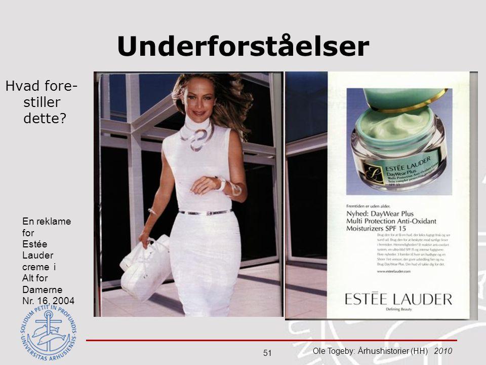 Underforståelser Hvad fore-stiller dette En reklame for Estée Lauder