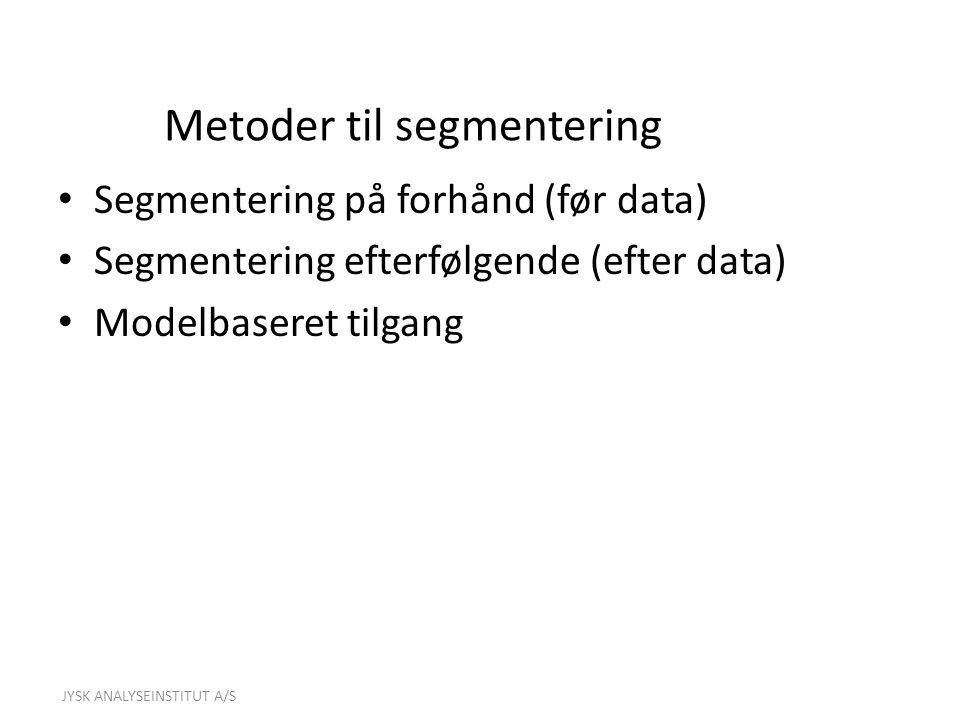 Metoder til segmentering