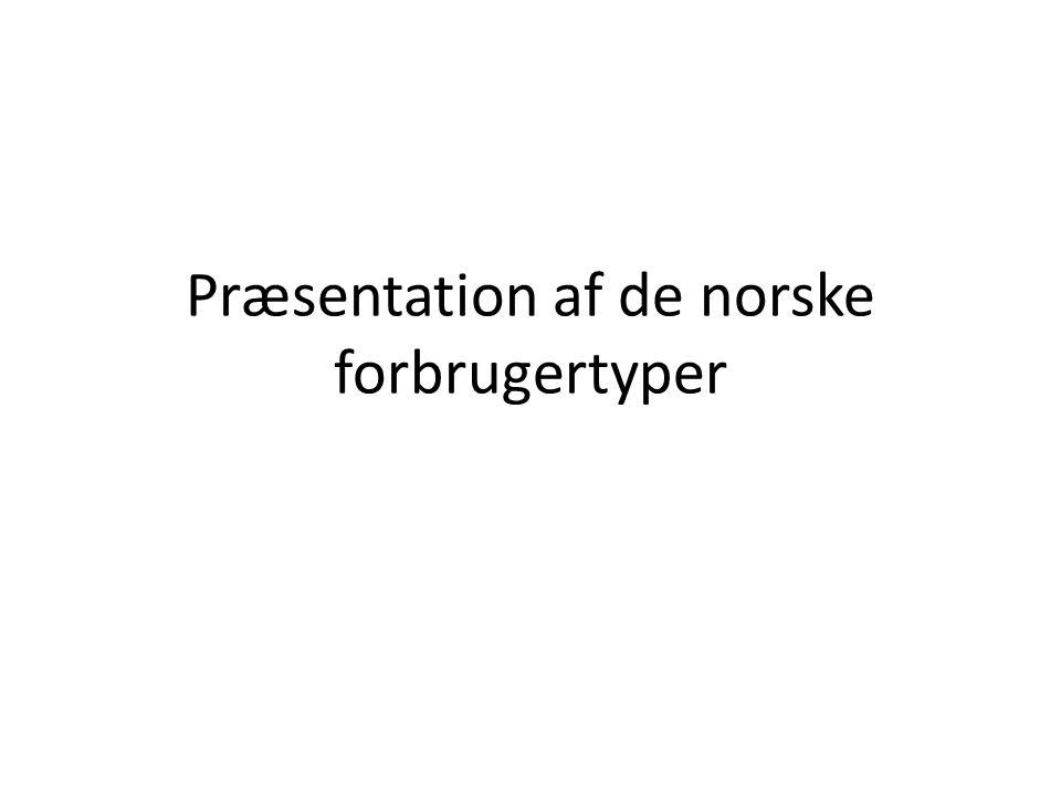 Præsentation af de norske forbrugertyper