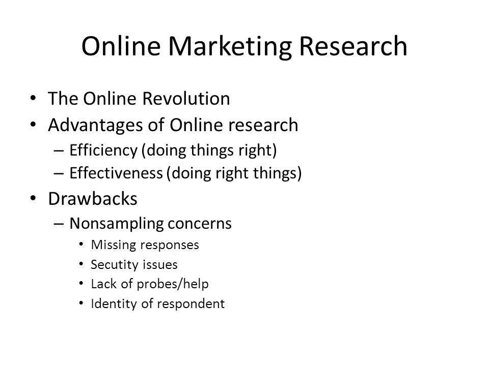 Online Marketing Research
