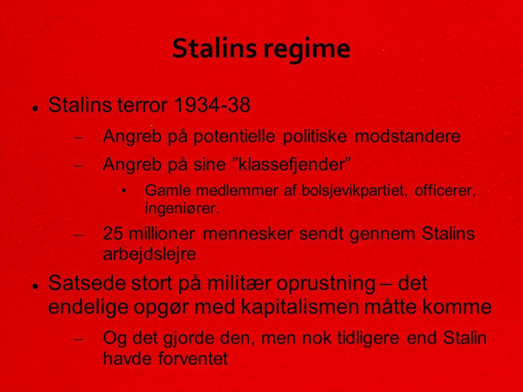 Stalins regime Stalins terror 1934-38