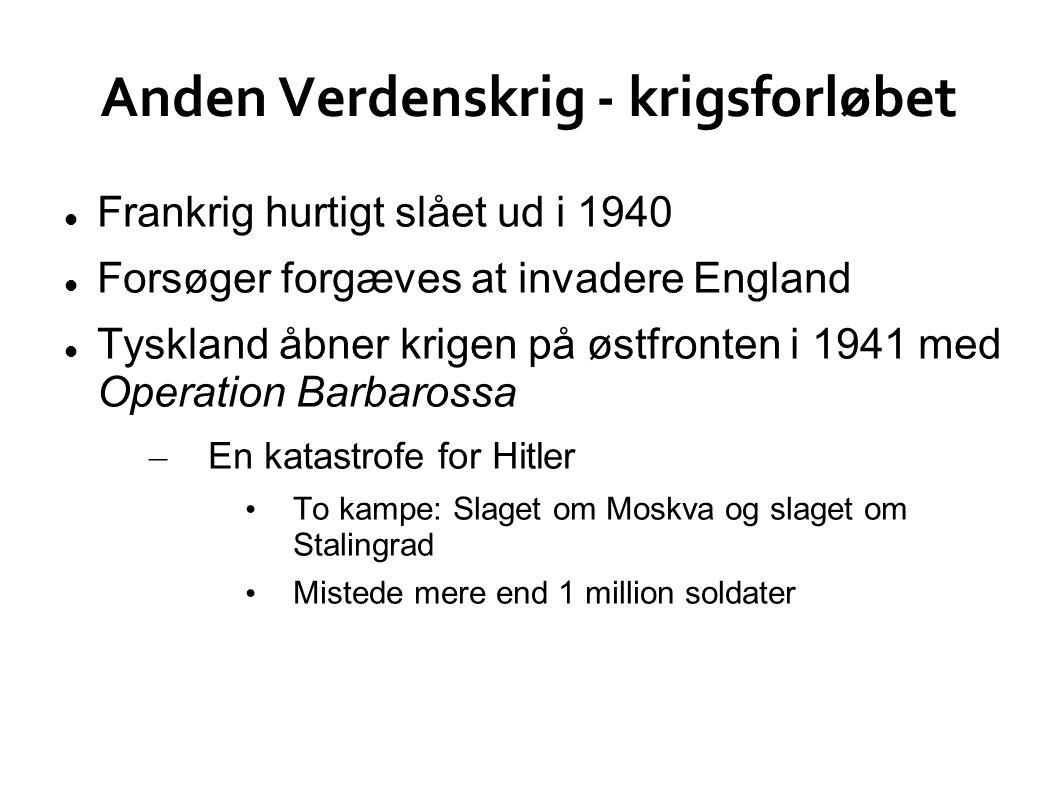 Anden Verdenskrig - krigsforløbet