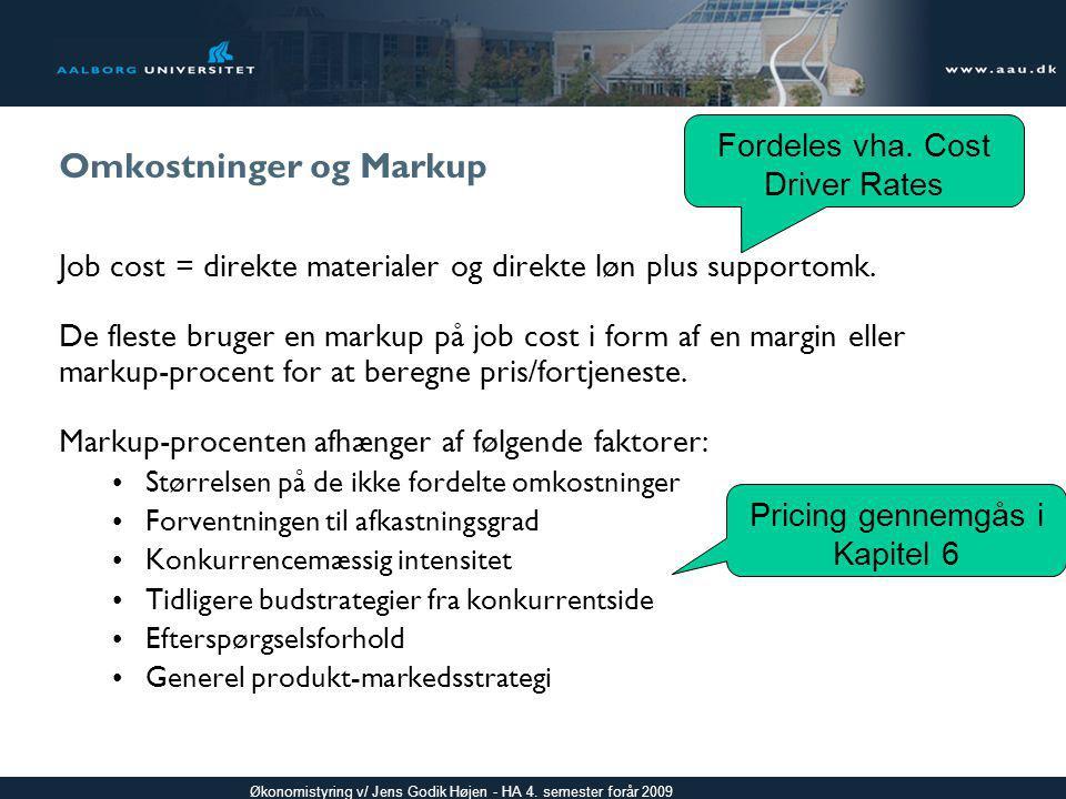 Omkostninger og Markup