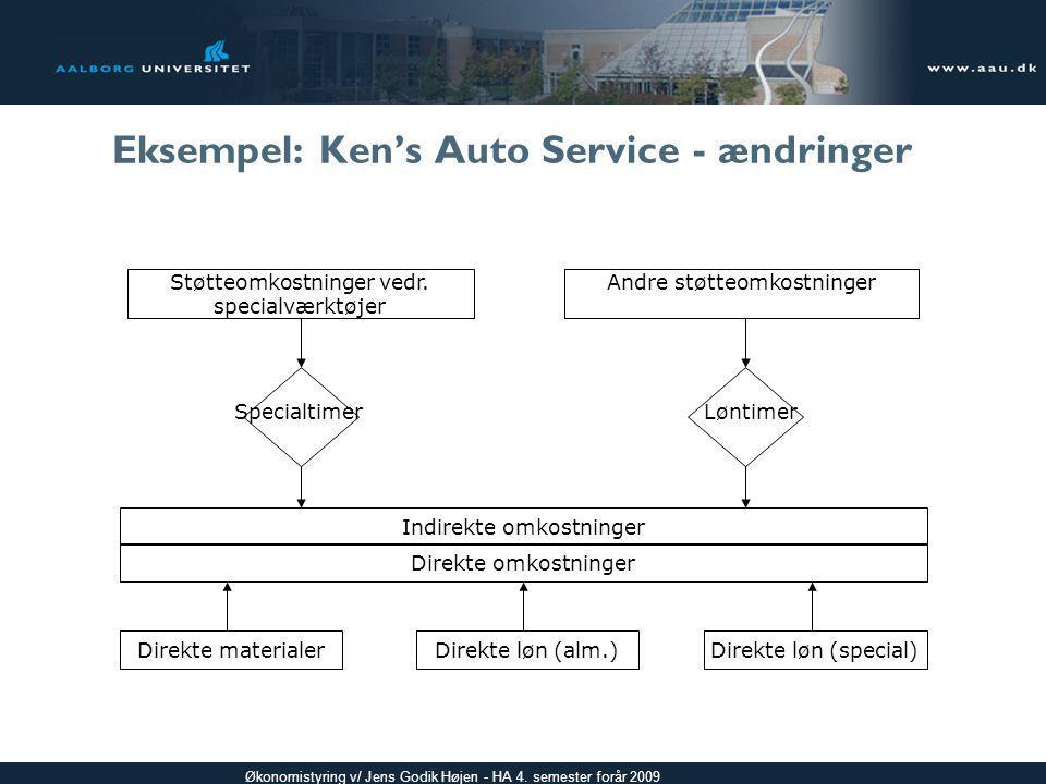 Eksempel: Ken's Auto Service - ændringer