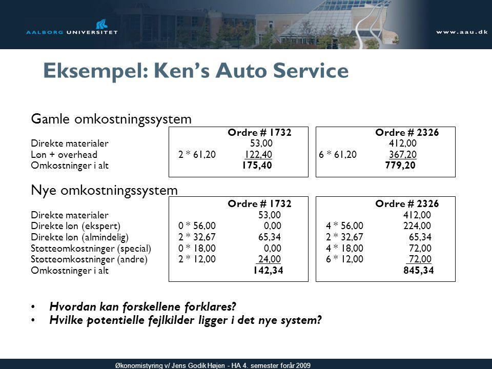 Eksempel: Ken's Auto Service