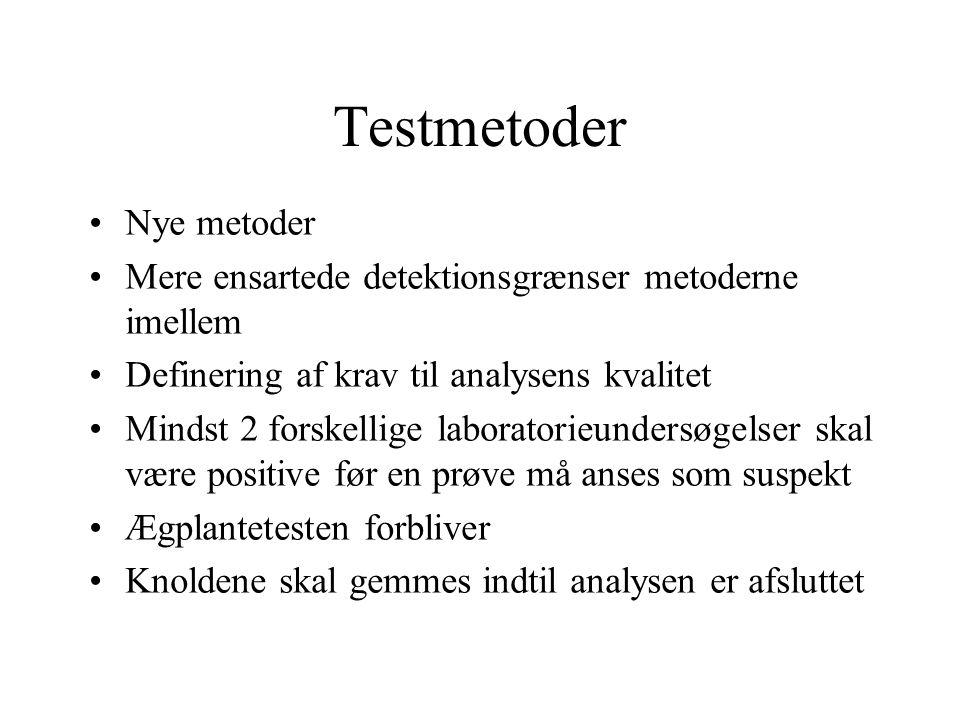 Testmetoder Nye metoder