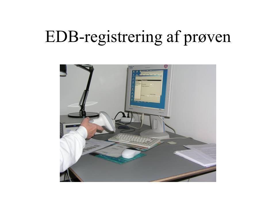 EDB-registrering af prøven