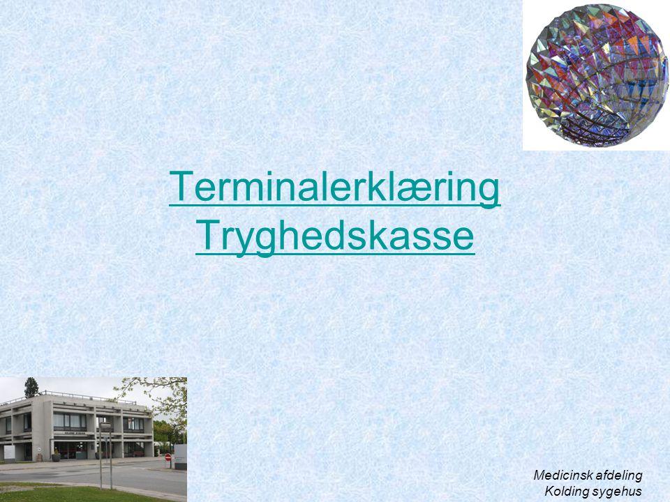 Terminalerklæring Tryghedskasse