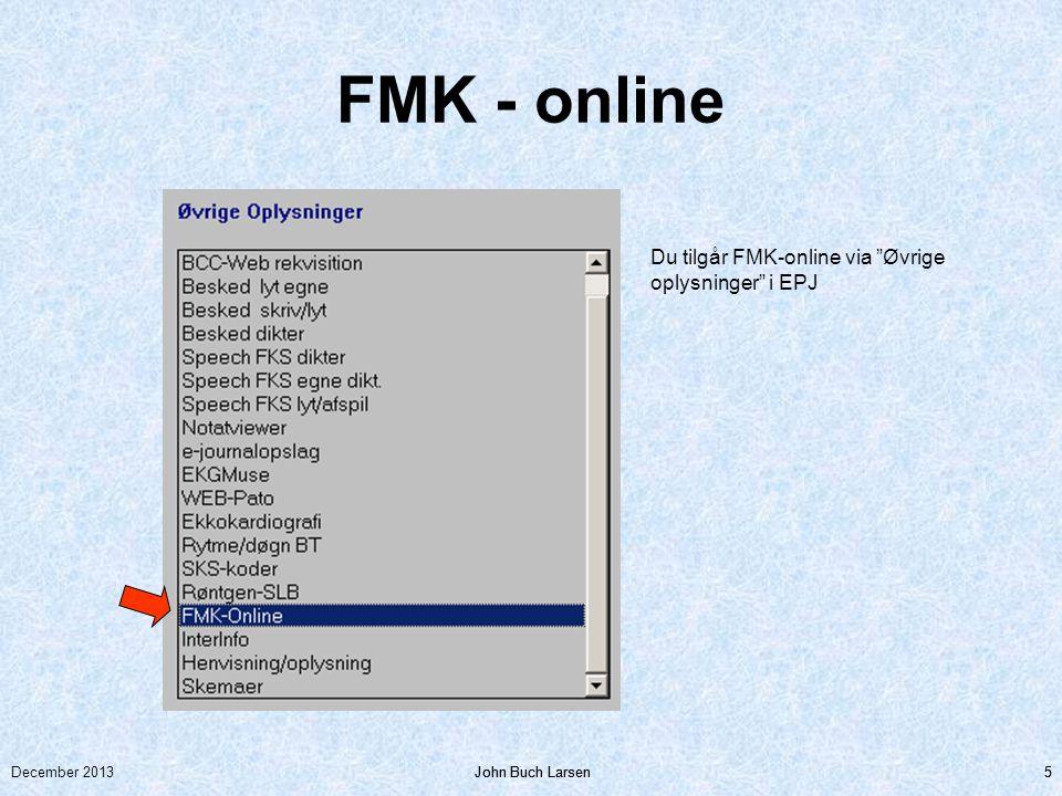 FMK - online Du tilgår FMK-online via Øvrige oplysninger i EPJ