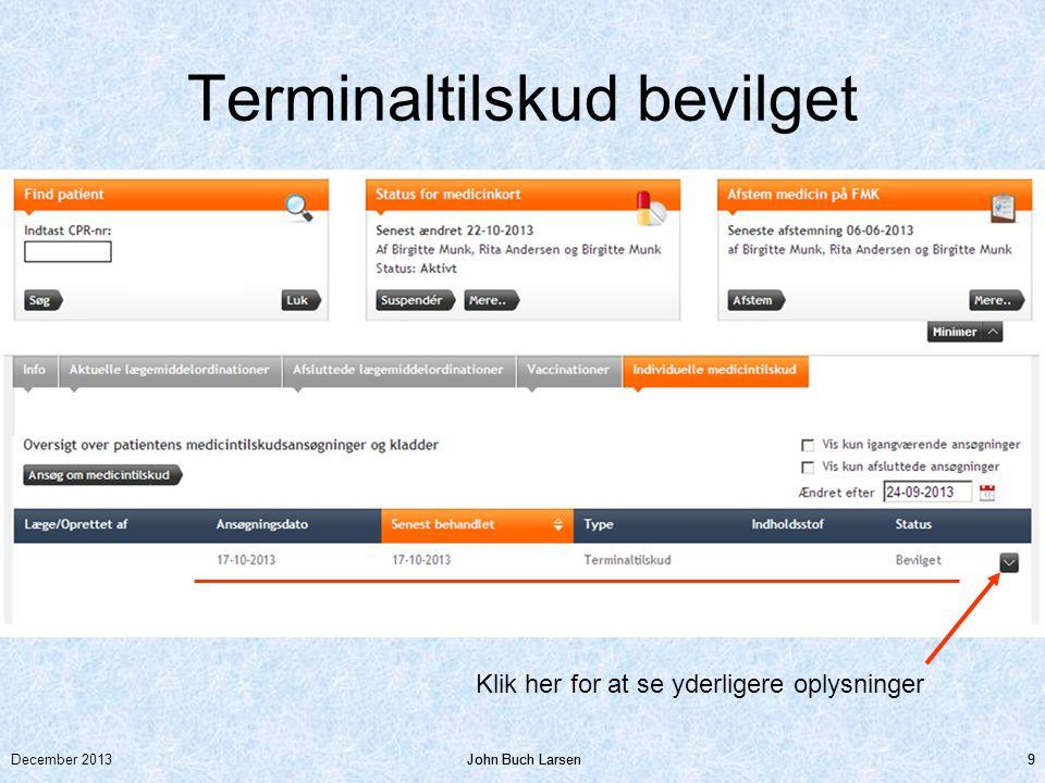 Terminaltilskud bevilget
