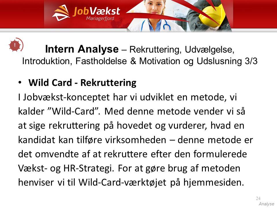 Wild Card - Rekruttering