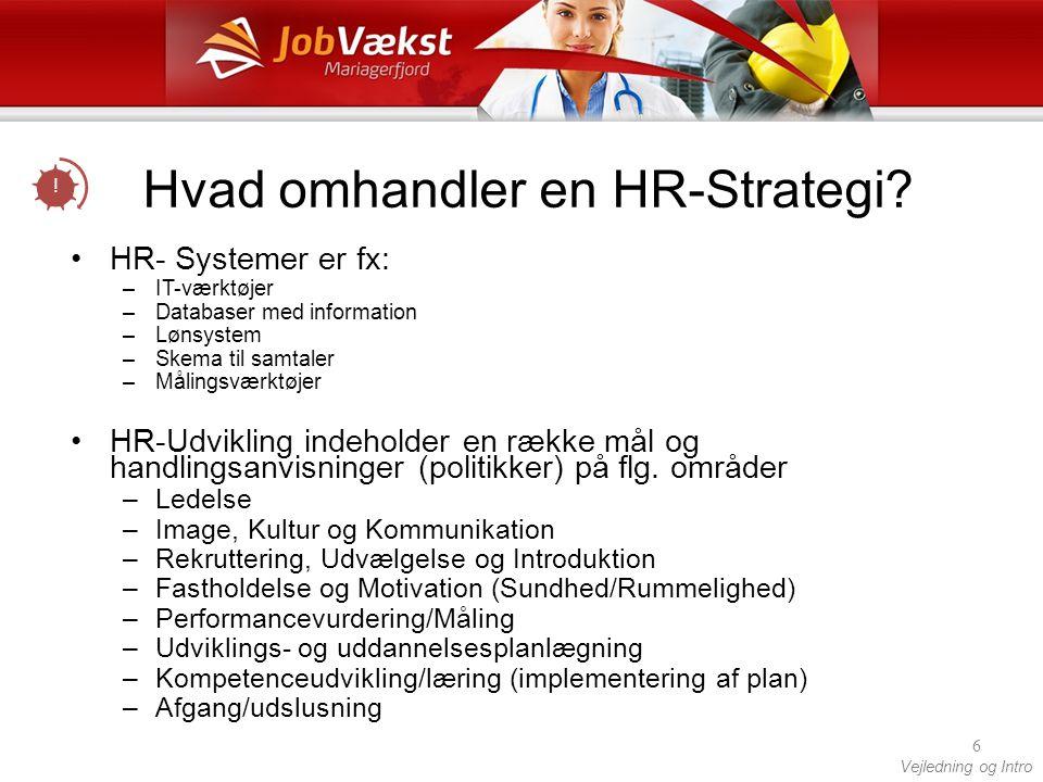 Hvad omhandler en HR-Strategi