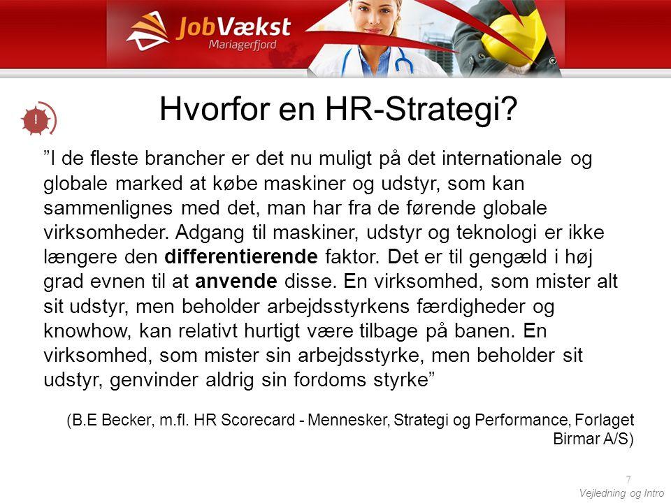 Hvorfor en HR-Strategi