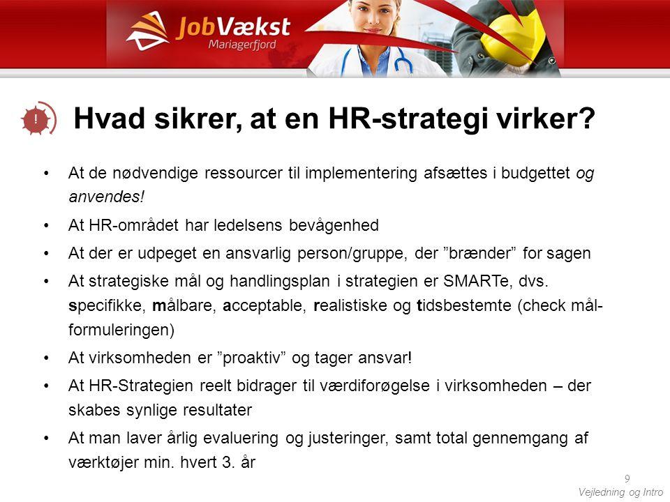 Hvad sikrer, at en HR-strategi virker