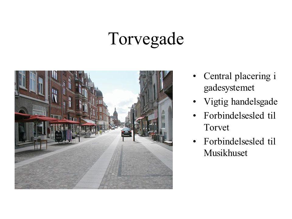 Torvegade Central placering i gadesystemet Vigtig handelsgade