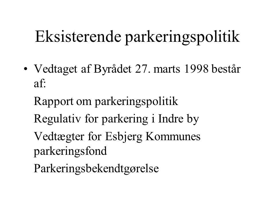 Eksisterende parkeringspolitik