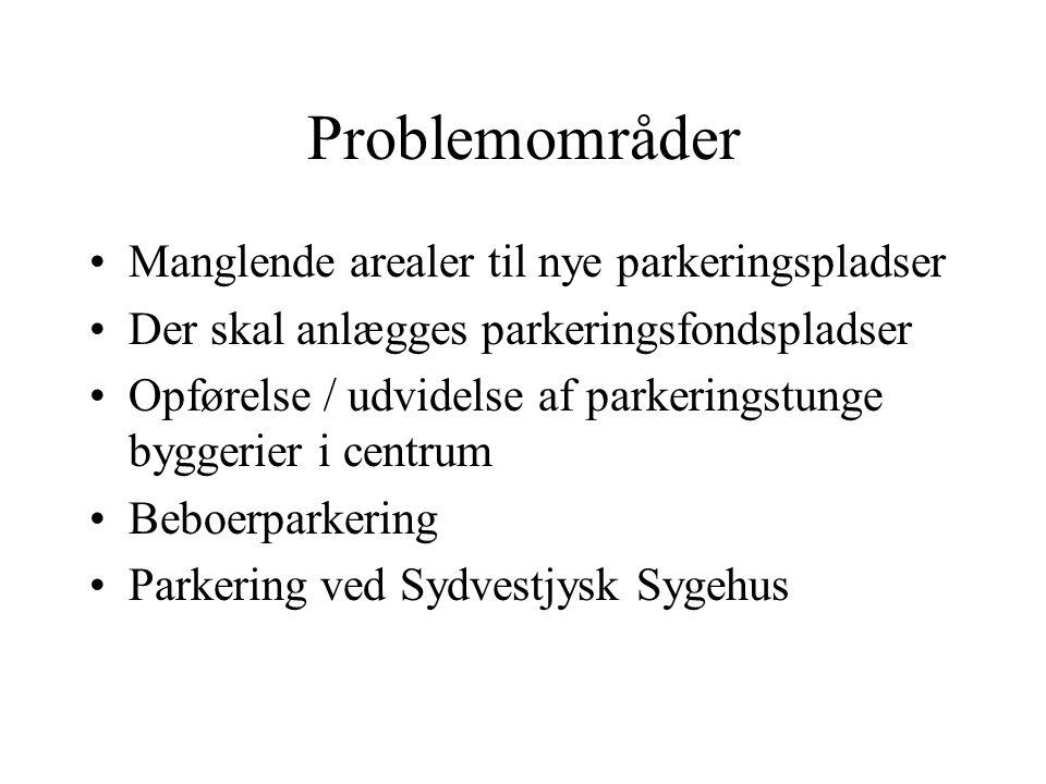 Problemområder Manglende arealer til nye parkeringspladser