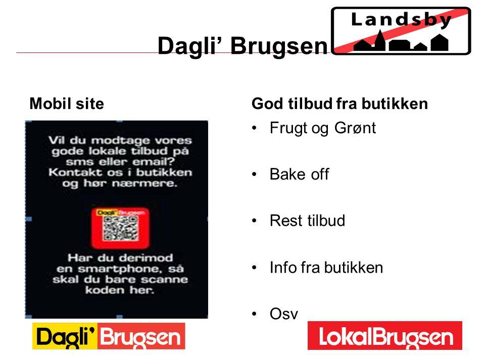 Dagli' Brugsen Mobil site God tilbud fra butikken Frugt og Grønt