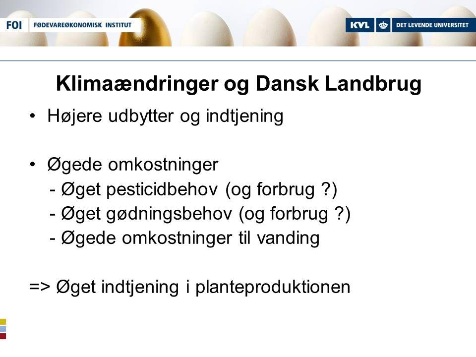 Klimaændringer og Dansk Landbrug