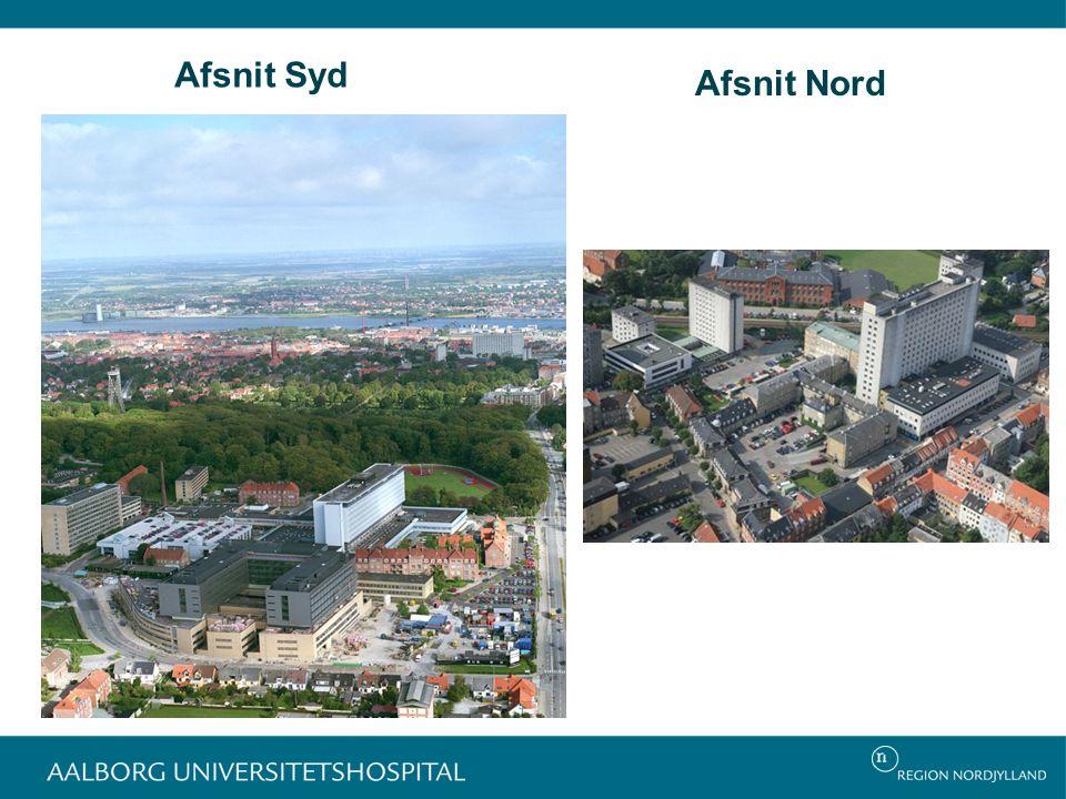 Afsnit Syd Afsnit Nord GOG Hospitalets matrikler i Aalborg: