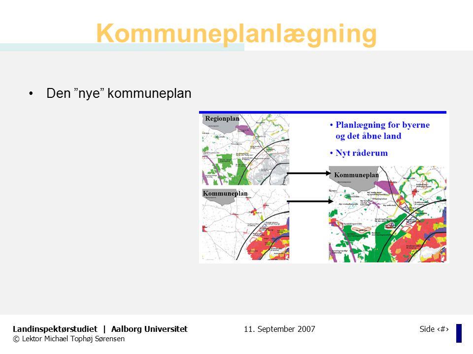 Kommuneplanlægning Den nye kommuneplan