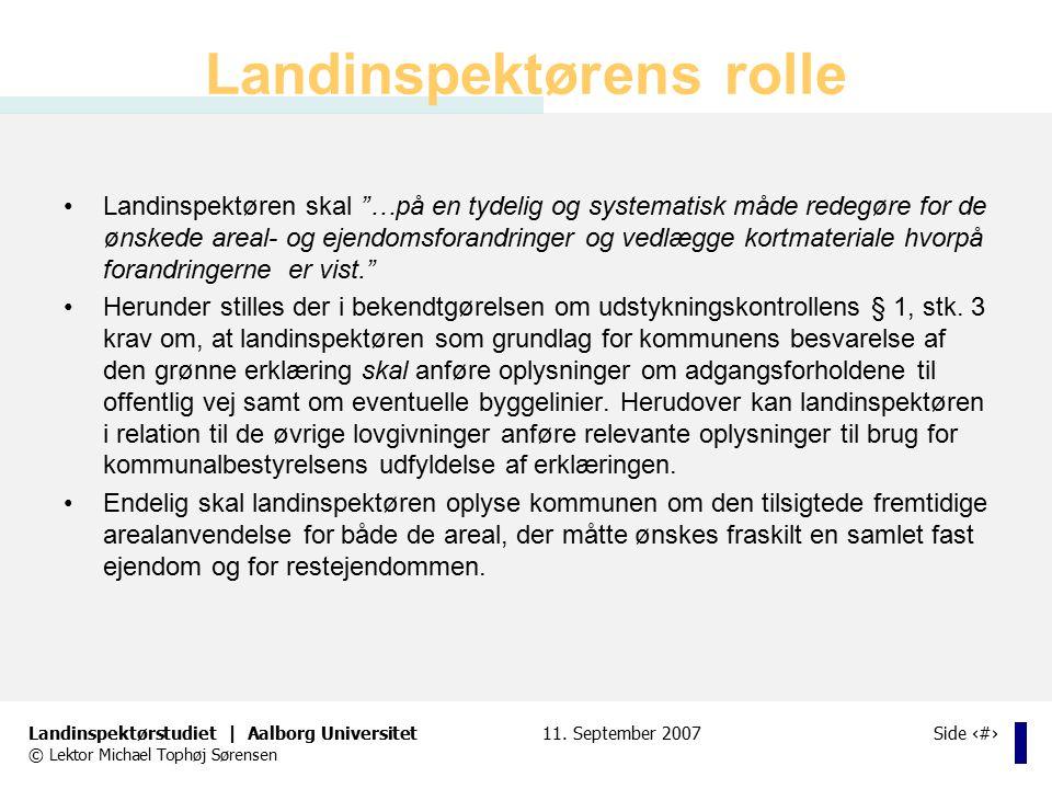 Landinspektørens rolle