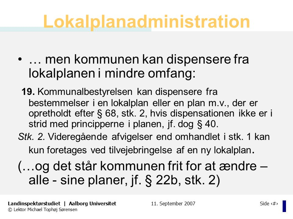 Lokalplanadministration
