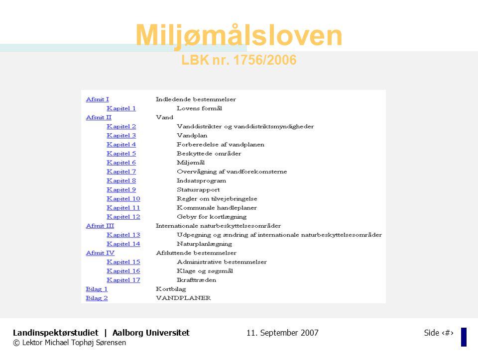 Miljømålsloven LBK nr. 1756/2006