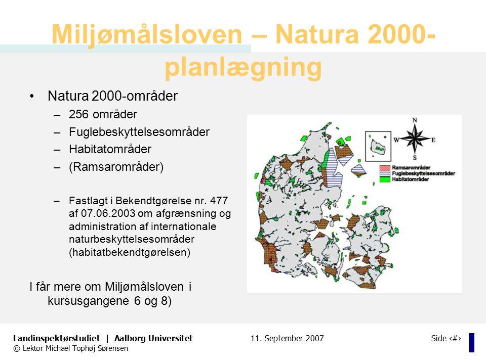 Miljømålsloven – Natura 2000-planlægning