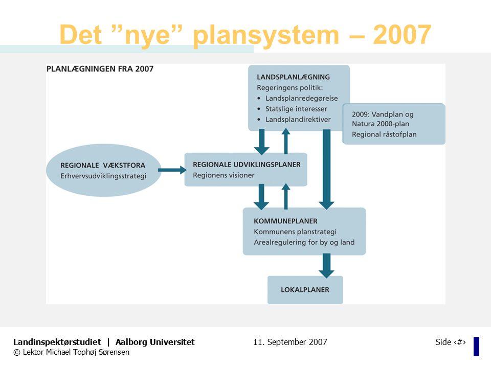 Det nye plansystem – 2007