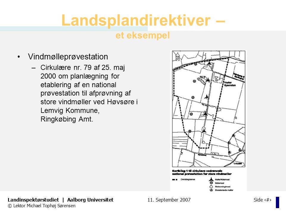 Landsplandirektiver – et eksempel