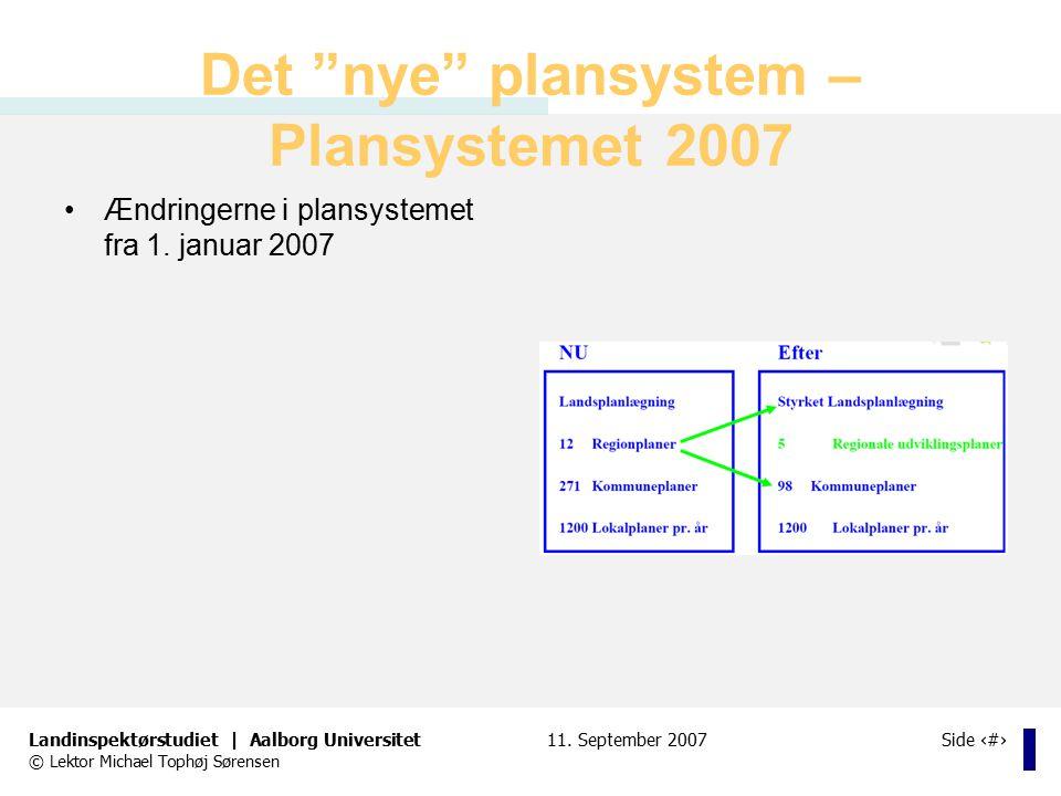 Det nye plansystem – Plansystemet 2007