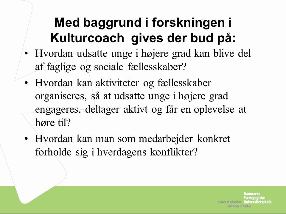 Med baggrund i forskningen i Kulturcoach gives der bud på: