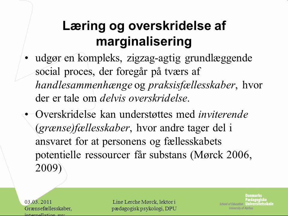 Læring og overskridelse af marginalisering