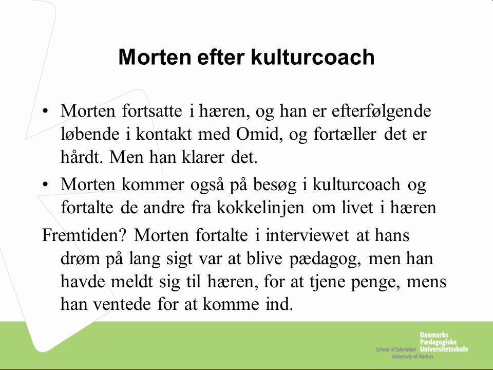 Morten efter kulturcoach