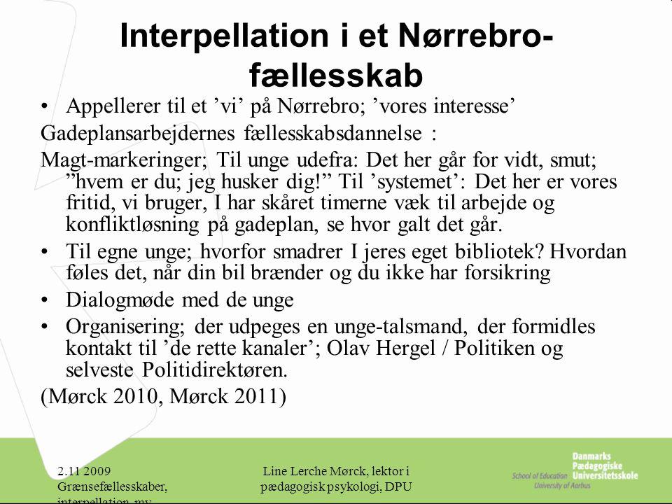 Interpellation i et Nørrebro-fællesskab