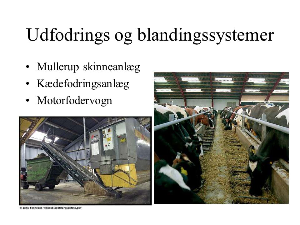 Udfodrings og blandingssystemer