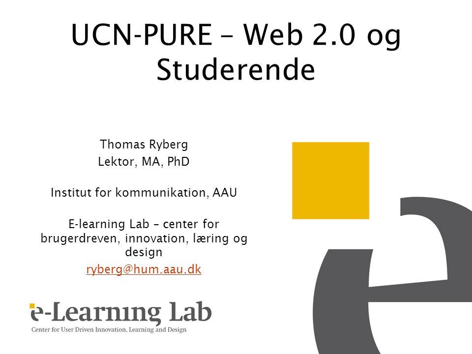 UCN-PURE – Web 2.0 og Studerende