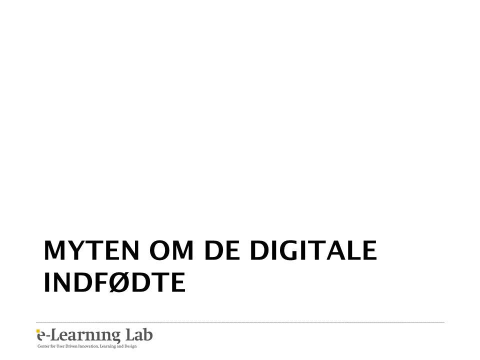 Myten om de digitale indfødte