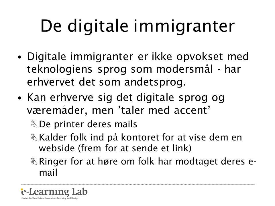 De digitale immigranter