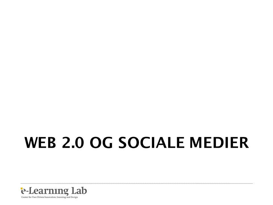 Web 2.0 og sociale medier