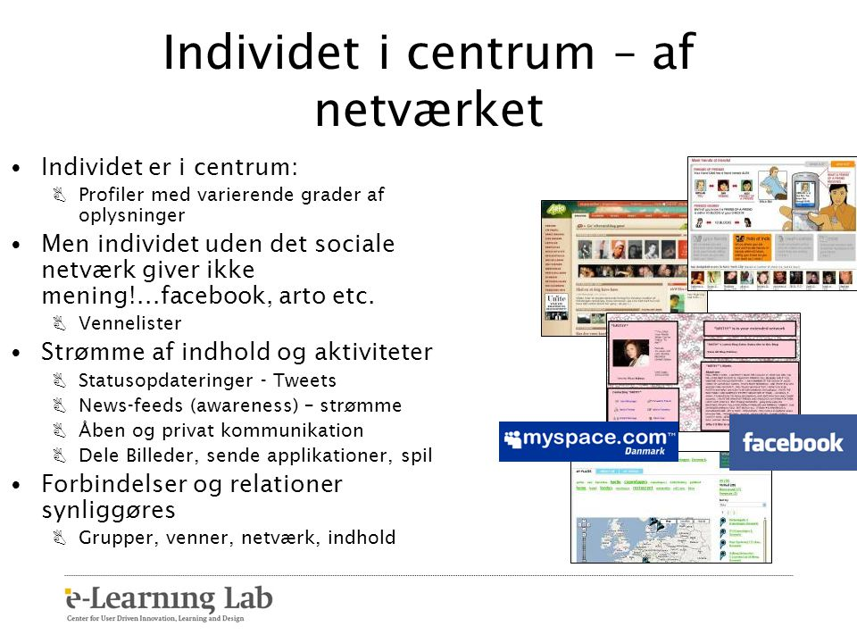 Individet i centrum – af netværket