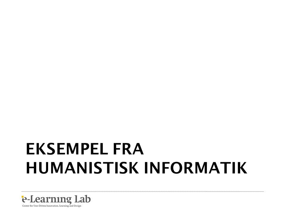 Eksempel fra humanistisk informatik